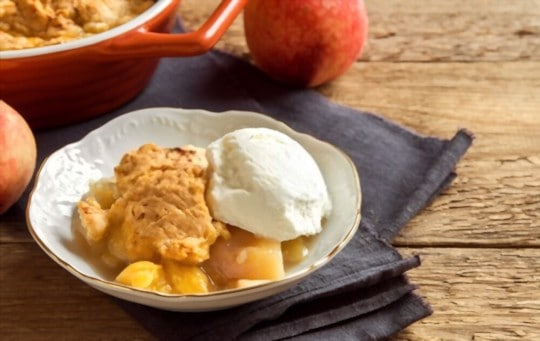 how to reheat peach cobbler in oven