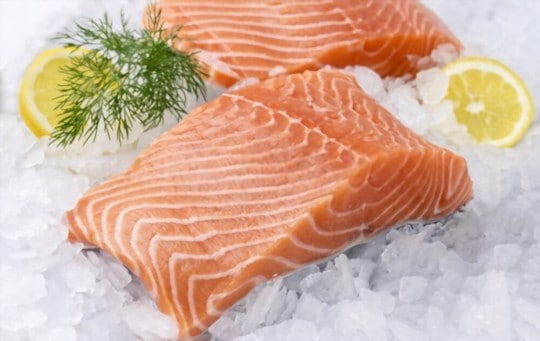 defrosting salmon in the refrigerator