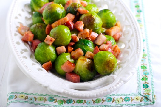 brussels sprouts with pancetta and walnuts