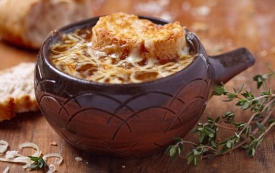 choosing containers to store onion soup