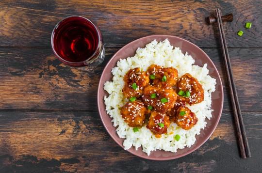 is sesame chicken healthy