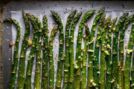 roasted asparagus with chervil vinaigrette