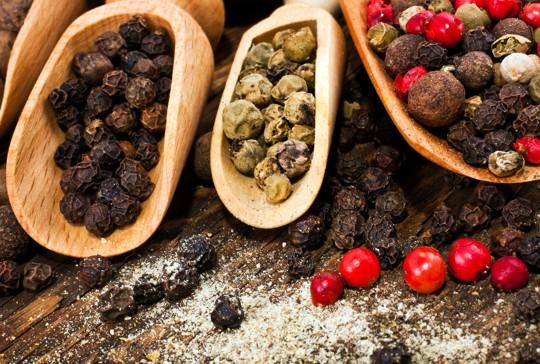 varieties of peppercorns