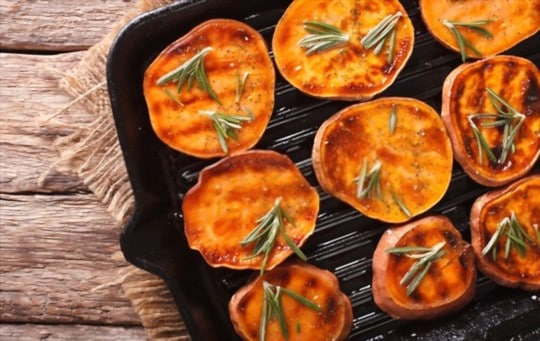 buttered roasted sweet potatoes