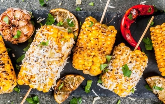 creamed corn with roasted grilled veggies