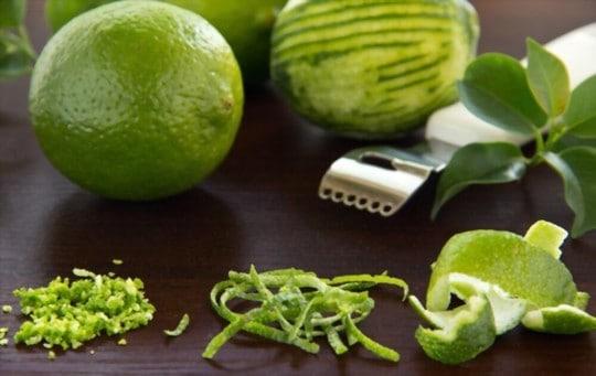lemon zest and lime